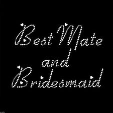 Rhinestone Crystal iron on T Shirt Design - Best Mate & Bridesmaid