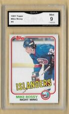 1981 TOPPS MIKE BOSSY # 4 Graded GMA Gem - 9 MINT