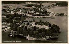 GRIPSHOLM Flygfoto vom Flugzeug aus alte Luftaufnahme Schweden Sverige ~1940/50