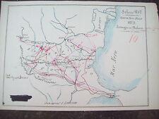 1877 BULGARIA E ROMANIA: PIANTA DEL PASSAGGIO DEI BALCANI GUERRA RUSSO - TURCA