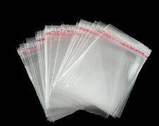 200x selbstklebende Folienbeutel Plastiktütchen Tüten transparent klar 4,5x4cm