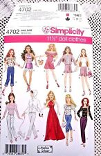 4702 SEWING PATTERN~UNCUT~BARBIE DOLL CLOTHES:EVENING GOWN&HALTER TOP&PANTS++