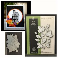 Fall Leaf Collage metal die Poppystamps dies 1562 autumn,oak,maple,birch,leaves