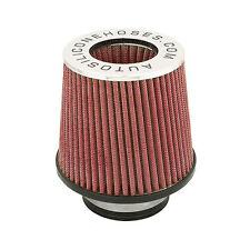 Red Performance Air Induction Filter Twin Cone