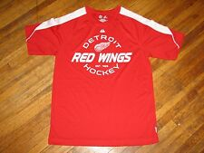 DETROIT RED WINGS MAJESTIC COOL BASE WORKOUT SHIRT TEE MEDIUM RED GYM NHL HOCKEY