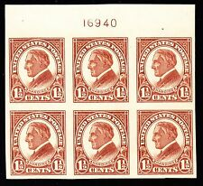US 576 1 1/2c Harding Mint Top Plt #16940 Block of 6 VF-XF OG H SCV $30