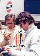 7x5 Photograph, Francois Cevert & Peter Revson Portrait  1973 Grand Prix Season