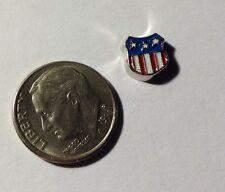 Americana Flag Shield Army Navy Military Fits Origami Owl Floating Charm