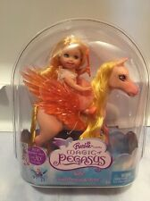 New Barbie Magic Of Pegasus Kelly Doll Cloud Princess & Pony Horse Yellow
