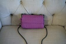 New With Tag $1380 Bottega Veneta Intrecciato Small Crossbody Messenger Bag Pink
