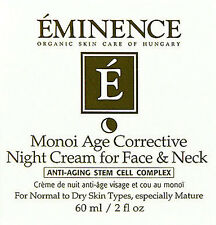 Eminence Monoi Age Corrective Night Cream For Face & Neck 60ml(2oz) Brand New