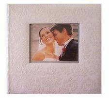Wedding Picture Album Book Bound Artificial Leather Ivory Damask 200 Photo
