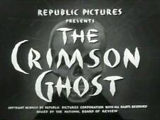 The Crimson Ghost 1946 12 Chapter Serial DVD Clayton Moore