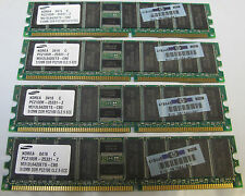 SAMSUNG PC2100R-25331-Z 4X 512MB DDR PC2100 CL2.5 ECC M312L6420ETS HP 261585-041