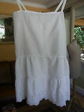 ANCIENNE CHEMISE SOUS ROBE FILLE BATISTE BRODE 12/13a OLD GIRL UNDERDRESS 12/13y