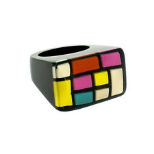 ZSISKA Homage soft multi color rectangular ring. New. Sizes M/L/XL