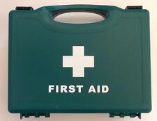 HSE 10 person medium first aid kit in a green plastic box - for home or office