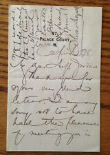 Autograph letter signed by ALICE MEYNELL English poet lecturer suffragist