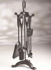 Companion Set 5 Piece Fire Vintage Black Fireside Place Tools Fireplace UK STOCK