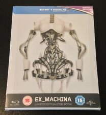 EX MACHINA Exclusive Limited UK Blu-Ray SteelBook. Only 2000 Made. New & Rare!