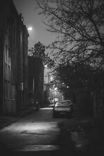 Framed Print - Black and White Dark and Gloomy Streets (Picture Cityscape Art)