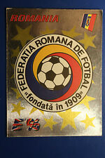 Panini EURO 96 N. 155 ROMANIA BADGE New With BLACK back VERY GOOD / MINT!!
