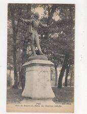 Pau Parc de Beaumont Statue du Chanteur Geliotte Vintage Postcard France 522a