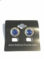 Horse Show Competition Earring - 13mm Sapphire