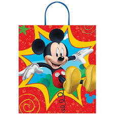 "16"" Disney Mickey Mouse Birthday Party Treat Loot Gift Tote Bag"