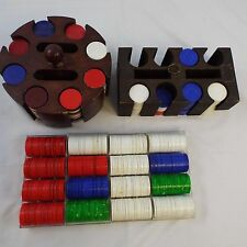 Lot of 700 Poker Chips a hodge podge of styles with two Chip Holders
