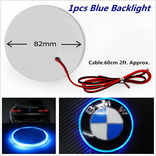 12V 82mm Car Blue Background Light 3D Emblem Badge Decal For BMW 3 5 7 X Series
