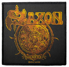 Saxon Sacrifice Sew On Patch New & Official Band Merch