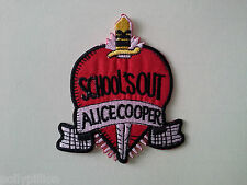 "PUNK ROCK HEAVY METAL MUSIC SEW ON / IRON ON PATCH:- ALICE COOPER ""SCHOOL'S OUT"""