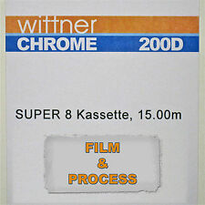 Agfa Aviphot Chrome 200D Super 8 PROCESS PAID CARTRIDGE *NEW*