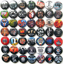 MOTORHEAD Bomber Iron Fist Ace of Spades Pins Button Badges Set Lot of 49