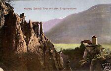 10579/ Foto AK, Schloß Tirol mit den Erdpyramiden, 1914