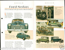 Ford Sedan V Luxe Tudor V8 Berline  USA Car Auto FICHE FRANCE