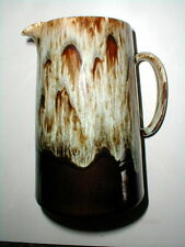 Canonsburg Pottery Carefree Ironstone BROWN DRIP 56 oz Pitcher