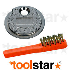 SPARK PLUG GAP ADJUSTMENT ADJUSTER TOOL COIN TYPE & WIRE CLEANING BRUSH