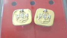 USN US NAVY ALL SCPO E-8 RATES GOLD MESS & EVENING DRESS SHIRT CUFF LINK SET