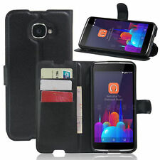 HOUSSE ETUI COQUE CUIR LUXE PORTEFEUILLE A RABAT ALCATEL IDOL 4S