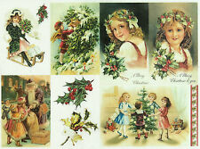 Ricepaper/ Decoupage paper,Scrapbooking Sheets/Craft Paper Happy Christmas 2