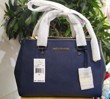 Genuine New Michael Kors Sutton Medium Navy Saffiano Leather Tote Bag