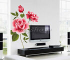 Rose Flower Wall Stickers Removable Decal Home Decor DIY Art Decoration Mural