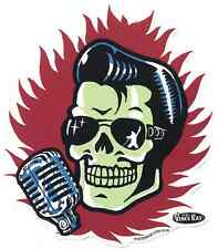 Elvis Skull Sticker Decal Vince Ray VR62