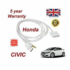 ORIGINALE Honda Civic IPHONE 3GS 4 4S IPOD USB & 3,5 mm AUX cavo ricambio BIANCO