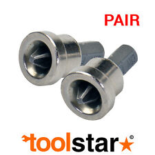 PLASTERBOARD SCREW BIT - PACK OF 2 - DRYWALL - DEPTH STOP LIMITS SCREWS