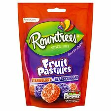 Rowntrees Fruit Pastilles Strawberry & Blackcurrant 150g -Sold Worldwide from UK