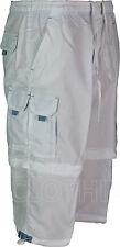 2 in 1 Shorts For Mens 3 Quarter Length Cargo Combat Zip Off Short Capri BST147