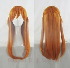 EVA Asuka Langley Soryu Orange Straight Anime Cosplay Costume Wig + Free wig cap